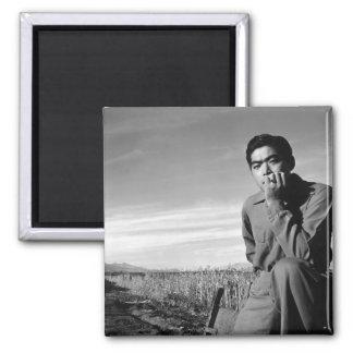 Contemplation at Manzanar, 1943 2 Inch Square Magnet