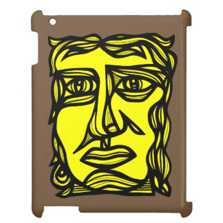 """Contemplation Face Yellow Black"" iPad Case"