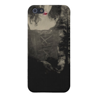 Contemplation ~ Gothic Girl with Red Lips iPhone SE/5/5s Cover