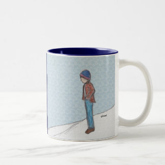 """Contemplation in the Snow"" Mug"