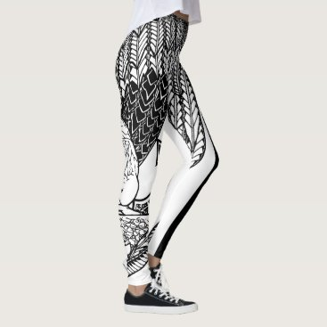 Beach Themed Contemplation Leggings