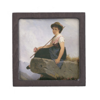 Contemplation (oil on panel) gift box