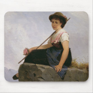 Contemplation (oil on panel) mouse pad