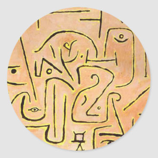 Contemplation - Paul Klee Classic Round Sticker