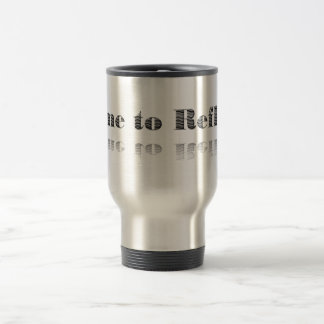 """Contemplation Saying in Grey of """"Time to Reflect"""" 15 Oz Stainless Steel Travel Mug"""