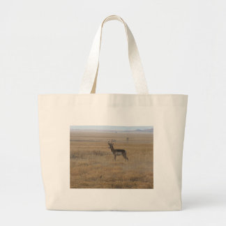 Contemplative Antelope Canvas Bag