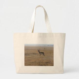 Contemplative Antelope Large Tote Bag