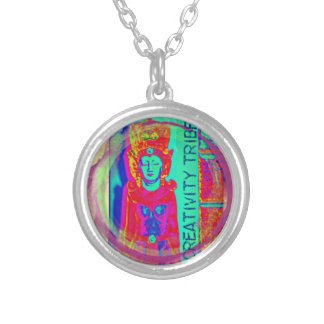 Contemplative Creative Silver Plated Necklace