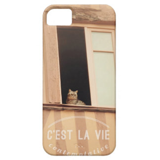 Contemplative life of cats. The French cat iPhone 5 Cover