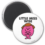 Contemplative Little Miss Wise 2 Inch Round Magnet
