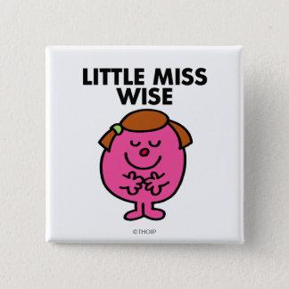 Contemplative Little Miss Wise Button