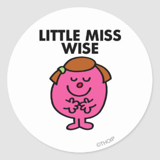 Contemplative Little Miss Wise Classic Round Sticker