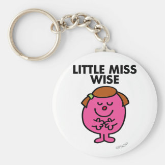 Contemplative Little Miss Wise Keychain