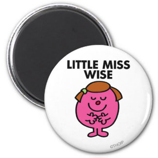 Contemplative Little Miss Wise Magnet