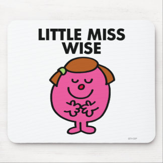 Contemplative Little Miss Wise Mouse Pad