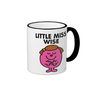 Contemplative Little Miss Wise Ringer Coffee Mug
