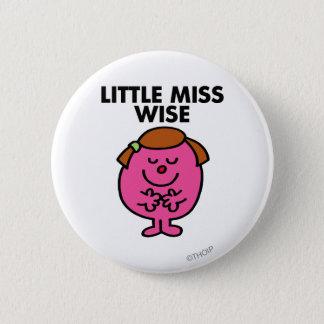 Contemplative Little Miss Wise Pinback Button