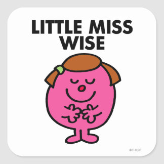 Contemplative Little Miss Wise Square Sticker
