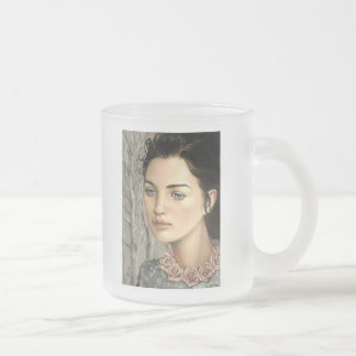 Contemplative Nature Frosted Glass Coffee Mug
