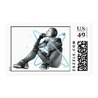 Contemplative Robot Stamp
