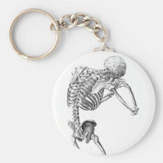 Contemplative Skelton Keychain