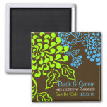 Contempo Floral (Brown) Save the Date Magnet