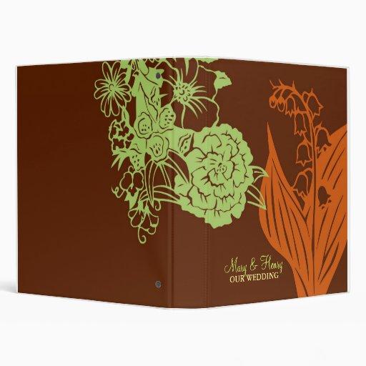 Contempo Floral (Cinnamon  / Mint Green) Binders