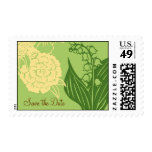 Contempo Floral (Cucumber / Cream) Save the Date Stamp
