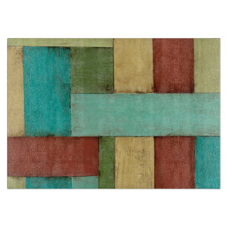 Contempoary Coastal Multicolored Painting Cutting Board