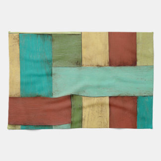 Contempoary Coastal Multicolored Painting Kitchen Towel