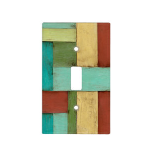 Contempoary Coastal Multicolored Painting Light Switch Cover
