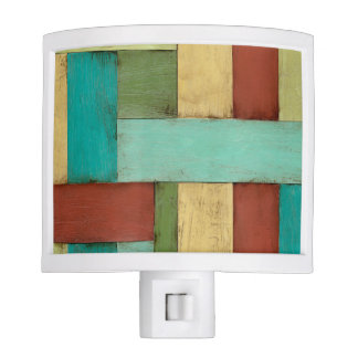 Contempoary Coastal Multicolored Painting Night Light