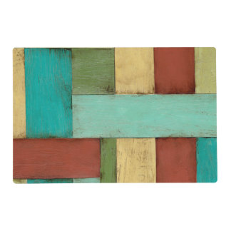 Contempoary Coastal Multicolored Painting Placemat