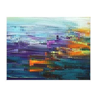 contemporáneo colorido por el rafi talby impresión en lienzo