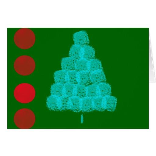 Contemporáneo del ornamento del navidad del árbol  tarjeta de felicitación