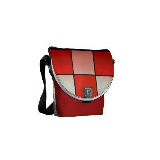 Contemporáneo, elegante, a cuadros rojo de la bolsa de mensajeria