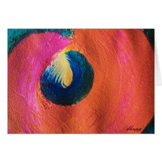Contemporáneo intrépido del color, original tarjeta de felicitación