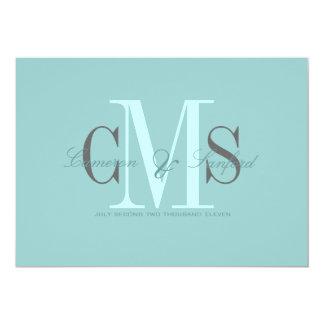 Contemporáneo + invitaciones con clase del boda invitación 12,7 x 17,8 cm