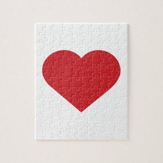 Contemporáneo moderno del corazón rojo simple puzzles