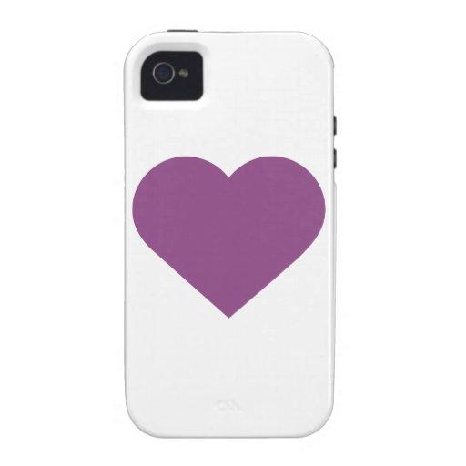 Contemporáneo moderno púrpura del ciruelo simple vibe iPhone 4 carcasa