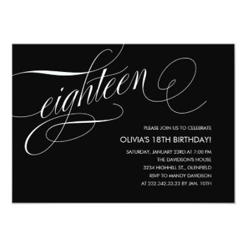 Contemporary 18th Birthday Invitations