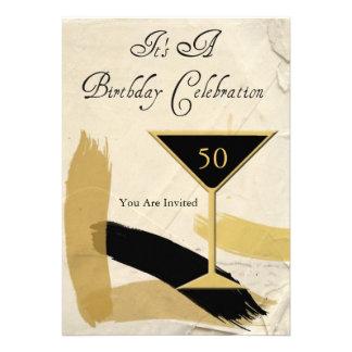 Contemporary 50th Birthday Party Invitations