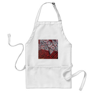 CONTEMPORARY ABSTRACT ADULT APRON