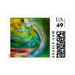 Contemporary Abstract Art Postage Stamps