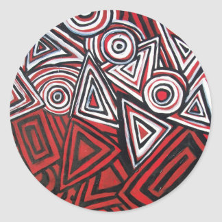 CONTEMPORARY ABSTRACT CLASSIC ROUND STICKER