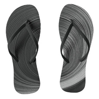 Contemporary Abstract Image Flip Flops