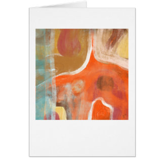 Contemporary Abstract Orange Greeting Card