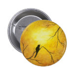 Contemporary Abstract Painting Design 2 Inch Round Button