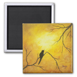 Contemporary Abstract Painting Design Magnet