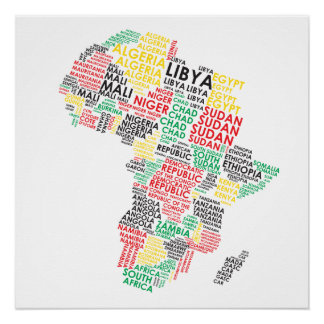 Contemporary African Art Framed Artwork Zazzle